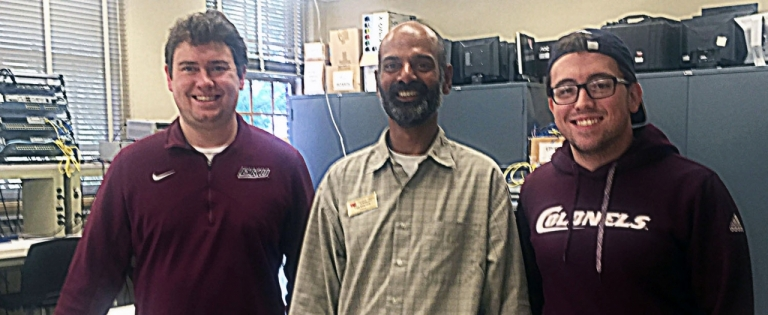 From left: Eric Poynter, Dr. Vigs Chandra, and Casey Spires
