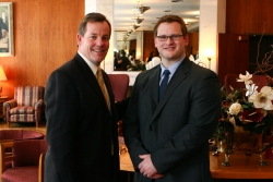l-r: Jeff Hudepohl and Jordan Brooking