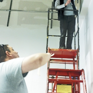 EKU students help in stall wiring and communication systems