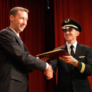 Dustin Ratliff with First Officer Logan Case from Endeavor Air